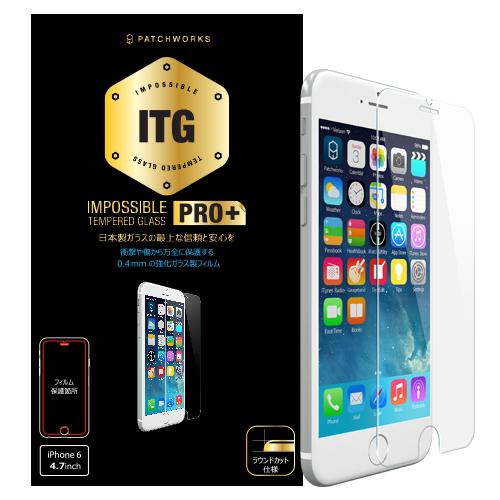 [0.4mm]ITGPRO Plus 強化ガラス ラウンドエッジ iPhone 6 強化ガラス