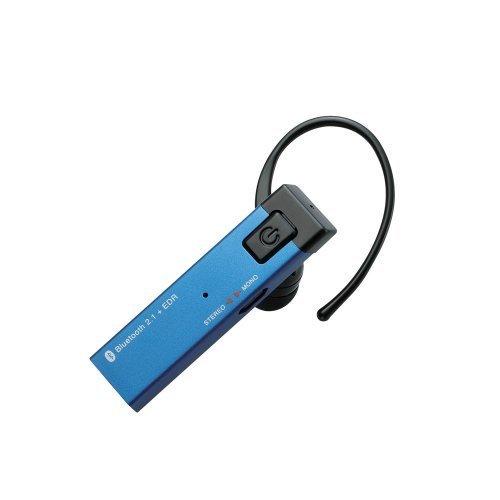 Bluetooth/携帯用ヘッドホン/カナルタイプ/モノ&ステレオ対応/アルミ筐体/ブルー_0