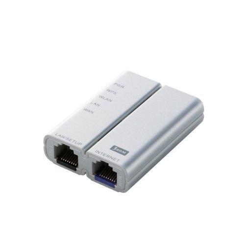 無線LANルータ/mobileRouter/300Mbps/コンパクト/シルバー