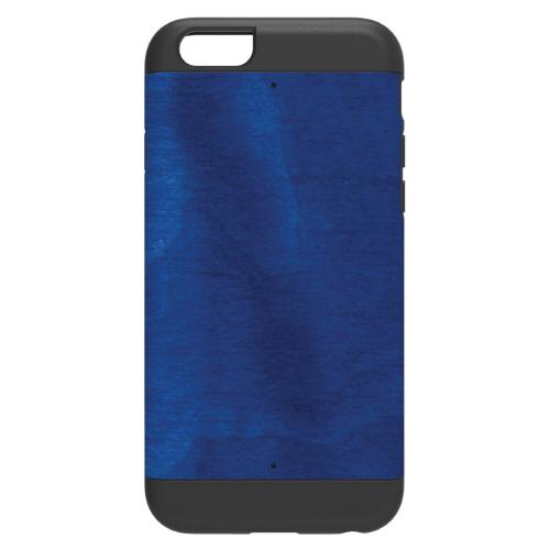 【iPhone6ケース】天然木 Man&Wood プロテクションタイプ ミッドナイトブルー ブラックフレーム iPhone 6ケース_0