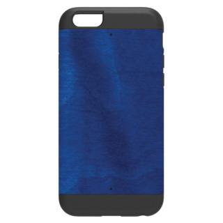 天然木 Man&Wood プロテクションタイプ ミッドナイトブルー ブラックフレーム iPhone 6ケース