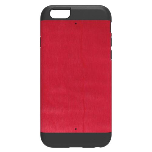 【iPhone6ケース】天然木 Man&Wood プロテクションタイプ ビビッドアザレア ブラックフレーム iPhone 6ケース_0