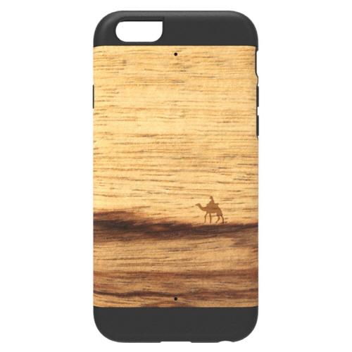 【iPhone6ケース】天然木 Man&Wood プロテクションタイプ ニューテラ ブラックフレーム iPhone 6ケース_0