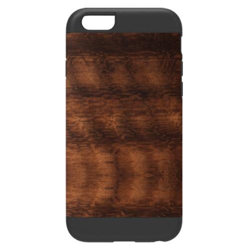 天然木 Man&Wood プロテクションタイプ コアラ ブラックフレーム iPhone 6ケース