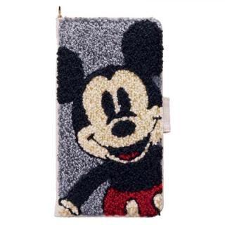 ディズニー サガラ刺繍手帳型ケース ミッキーマウス iPhone X