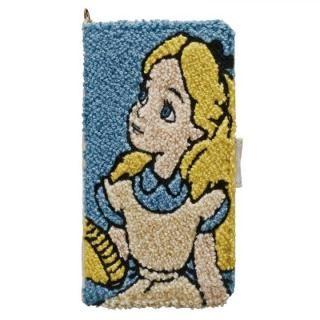 ディズニー サガラ刺繍手帳型ケース アリス iPhone X