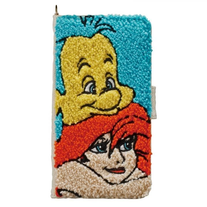 ディズニー サガラ刺繍手帳型ケース アリエル iPhone X