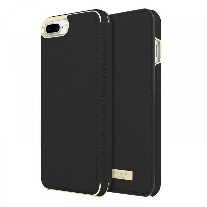 kate spade new york 手帳型ケース ブラック iPhone 8 Plus/7 Plus