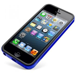 iPhone SE/5s/5 ケース ネオ・ハイブリッドEX スリムシリーズ 日本限定モデル[ロイヤル・ブルー](BK)