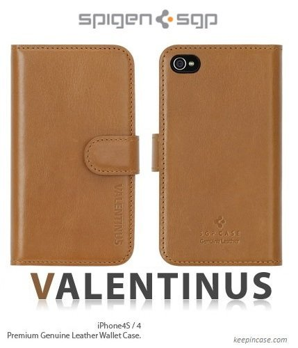 Leather Case Valentinus Series Brown iPhone4/4s_0