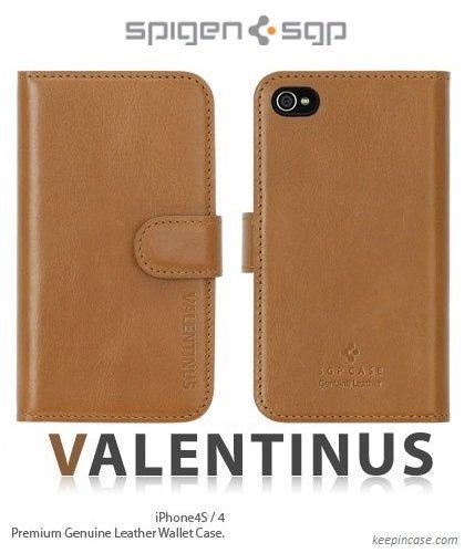 Leather Case Valentinus Series Brown iPhone4/4s_0