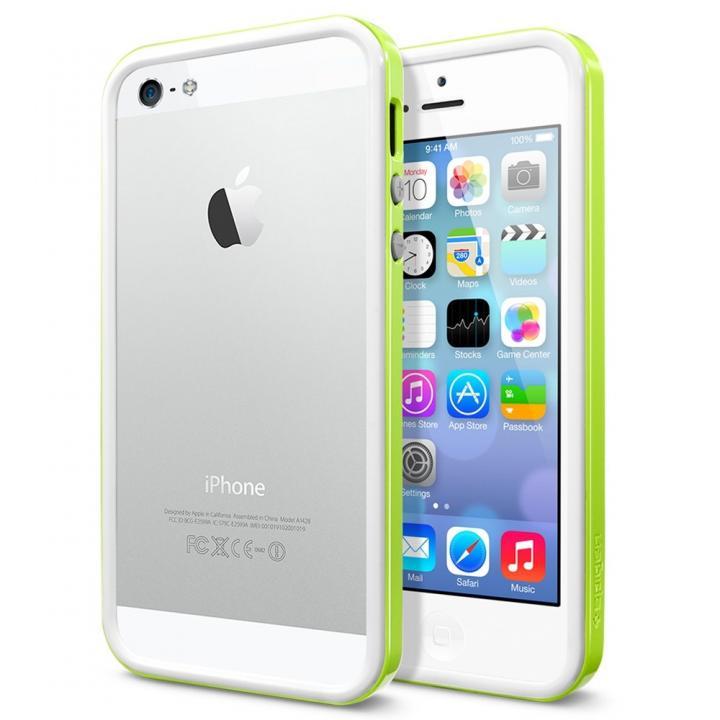 【iPhone SE/5s/5ケース】iPhone SE/5s/5 ケース ネオ・ハイブリッド EXスリム スノーシリーズ [ライム]_0