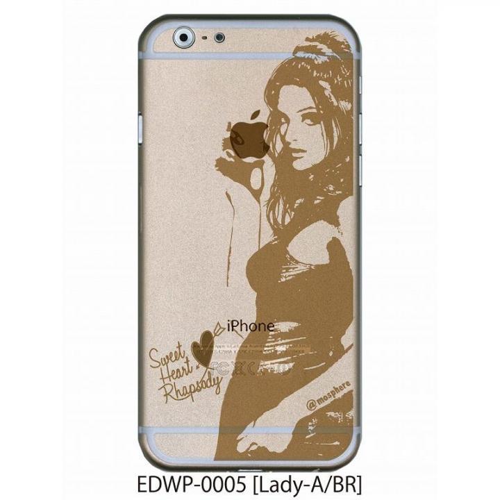 アトモスフィア クリアデザインケース レディエー ブラウン iPhone 6ケース