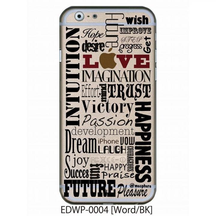 アトモスフィア クリアデザインケース ワード ブラック iPhone 6ケース
