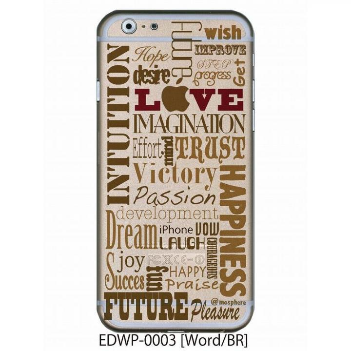 アトモスフィア クリアデザインケース ワード ブラウン iPhone 6ケース
