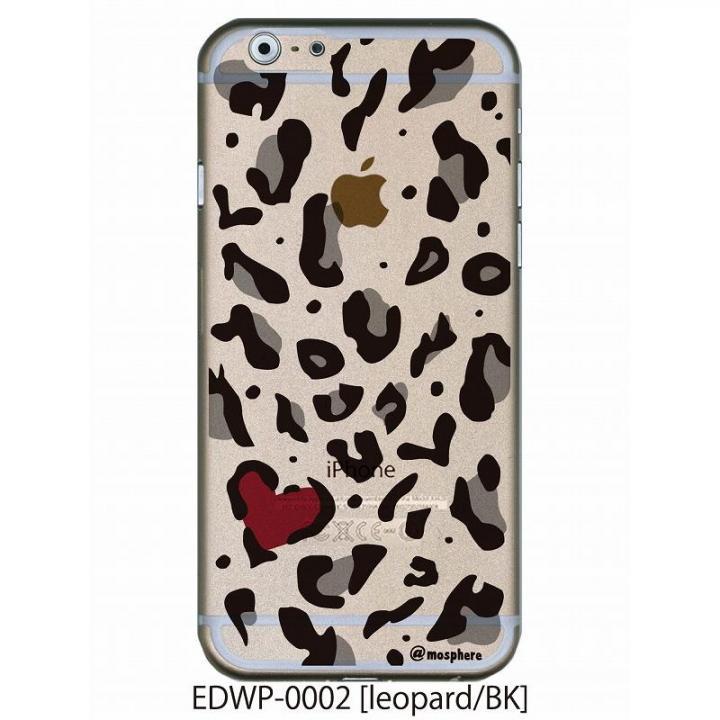 iPhone6 ケース アトモスフィア クリアデザインケース レオパード ブラック iPhone 6ケース_0