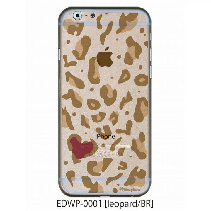 iPhone6 ケース アトモスフィア クリアデザインケース レオパード ブラウン iPhone 6ケース_0