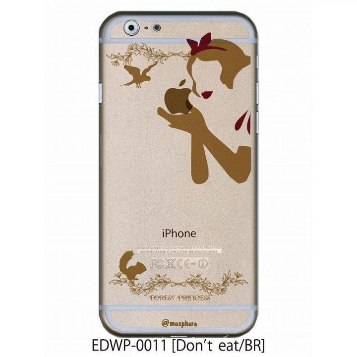 iPhone6 ケース アトモスフィア クリアデザインケース ドントイート ブラウン iPhone 6ケース_0