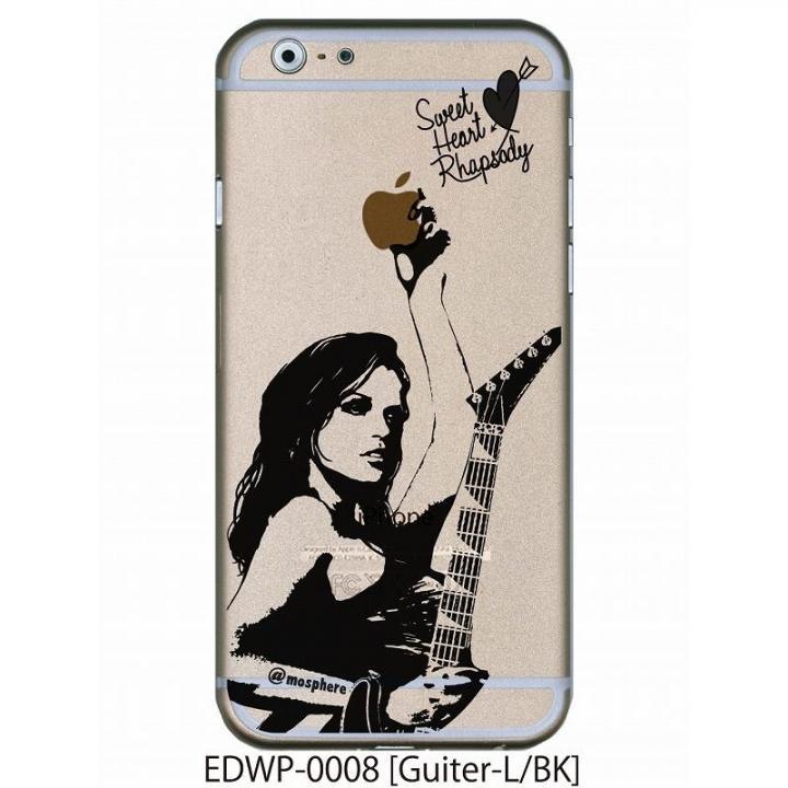 iPhone6 ケース アトモスフィア クリアデザインケース ギター ブラック iPhone 6ケース_0