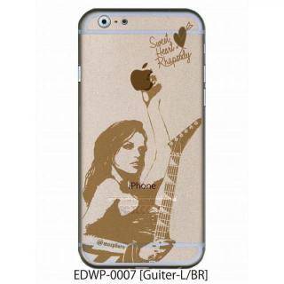 iPhone6 ケース アトモスフィア クリアデザインケース ギター ブラウン iPhone 6ケース