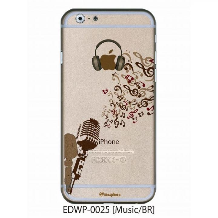 iPhone6 ケース アトモスフィア クリアデザインケース ミュージック ブラウン iPhone 6ケース_0