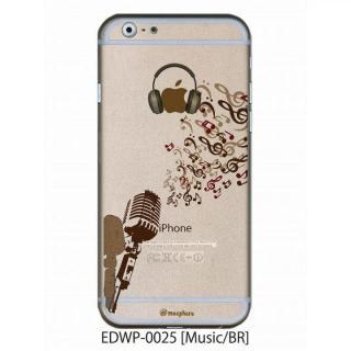 アトモスフィア クリアデザインケース ミュージック ブラウン iPhone 6ケース