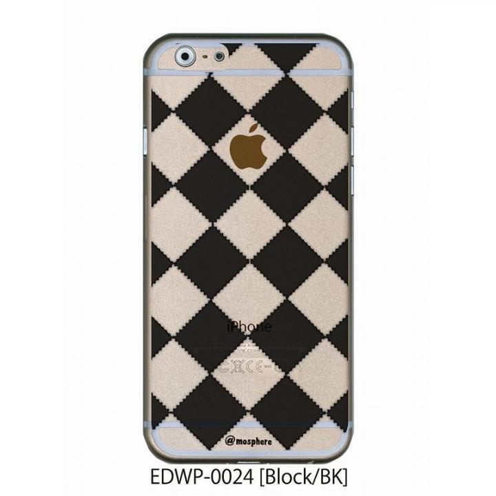 iPhone6 ケース アトモスフィア クリアデザインケース ブロック ブラック iPhone 6ケース_0