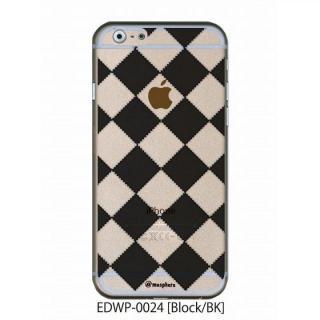 アトモスフィア クリアデザインケース ブロック ブラック iPhone 6ケース