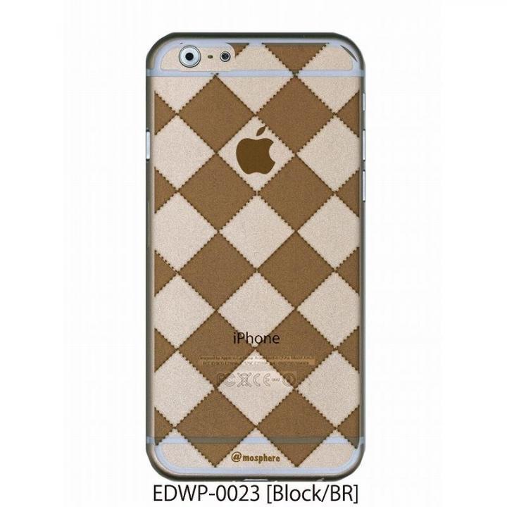 アトモスフィア クリアデザインケース ブロック ブラウン iPhone 6ケース
