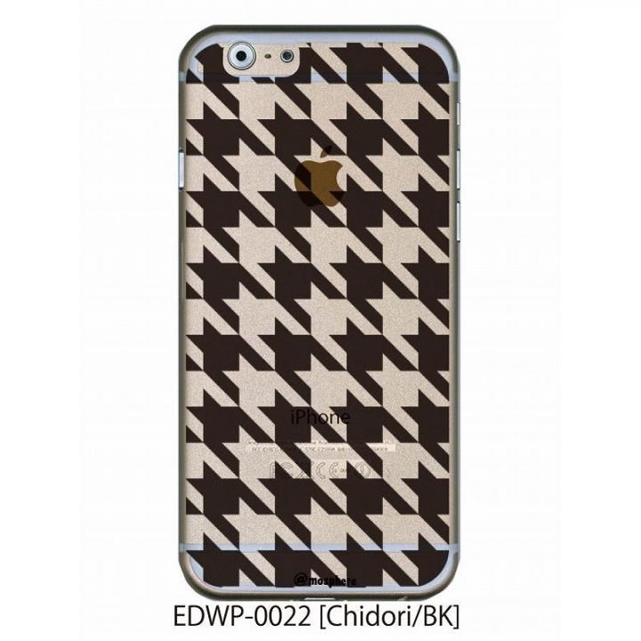 アトモスフィア クリアデザインケース チドリ ブラック iPhone 6ケース