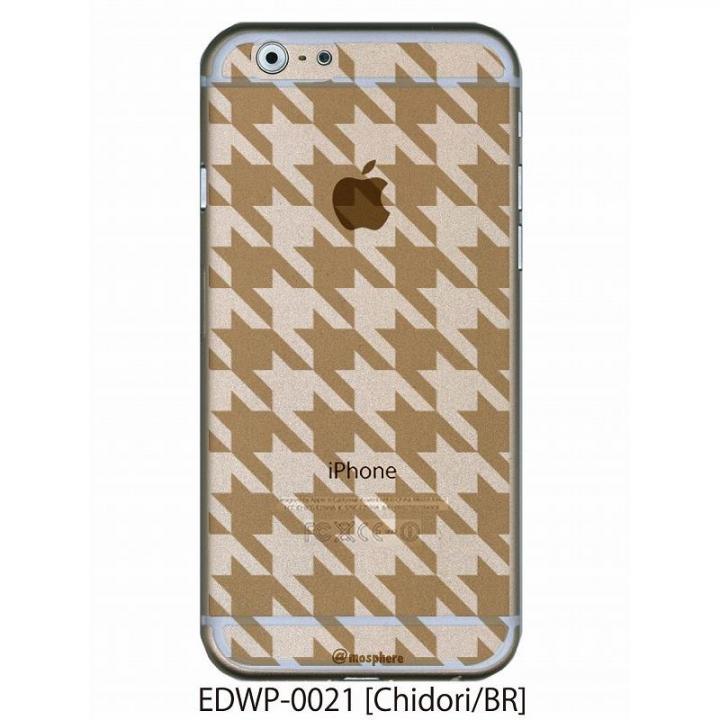 【iPhone6ケース】アトモスフィア クリアデザインケース チドリ ブラウン iPhone 6ケース_0