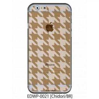アトモスフィア クリアデザインケース チドリ ブラウン iPhone 6ケース