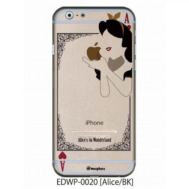 【iPhone6ケース】アトモスフィア クリアデザインケース アリス ブラック iPhone 6ケース_0
