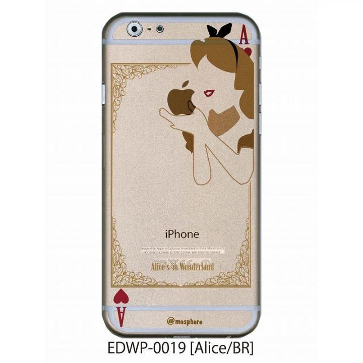 アトモスフィア クリアデザインケース アリス ブラウン iPhone 6ケース