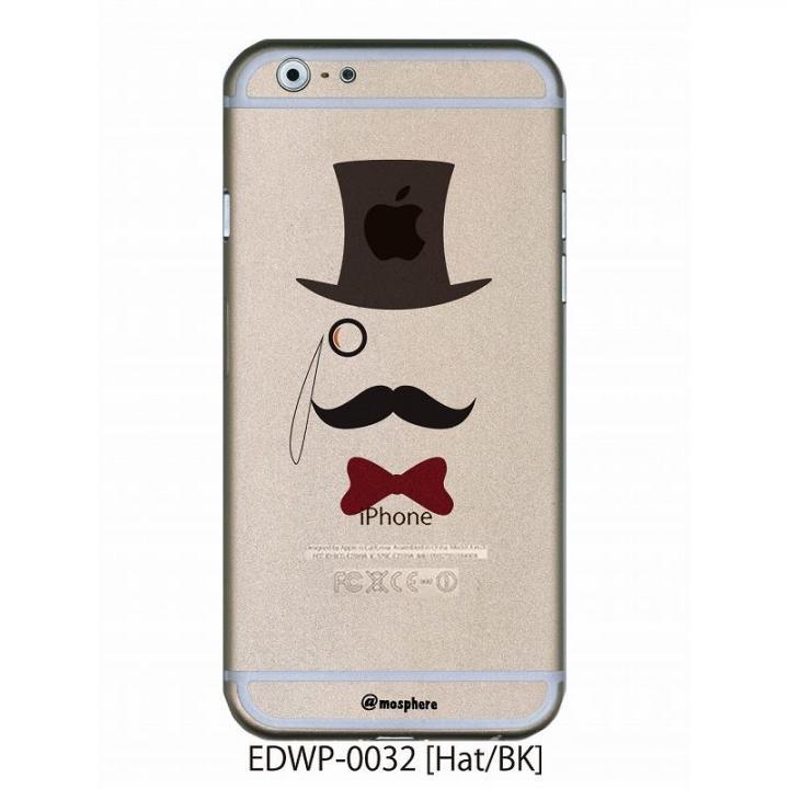 【iPhone6ケース】アトモスフィア クリアデザインケース ヒゲハット ブラック iPhone 6ケース_0