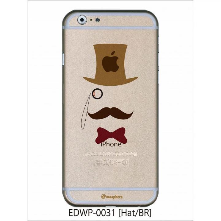 iPhone6 ケース アトモスフィア クリアデザインケース ヒゲハット ブラウン iPhone 6ケース_0