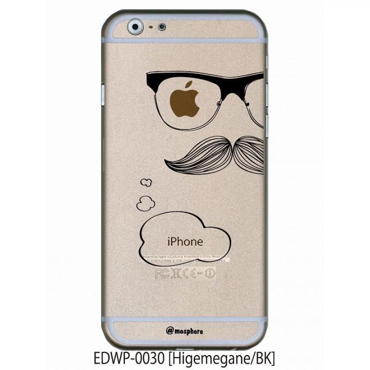 アトモスフィア クリアデザインケース ヒゲメガネ ブラック iPhone 6ケース