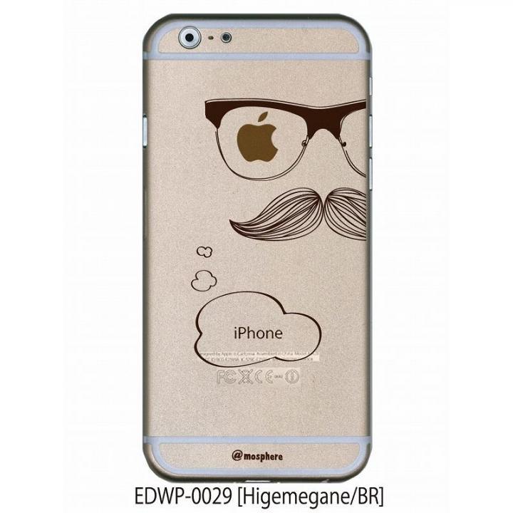 iPhone6 ケース アトモスフィア クリアデザインケース ヒゲメガネ ブラウン iPhone 6ケース_0