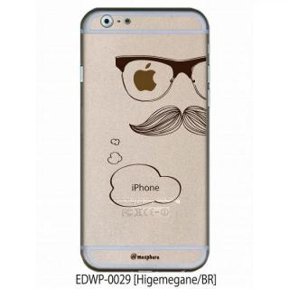 アトモスフィア クリアデザインケース ヒゲメガネ ブラウン iPhone 6ケース