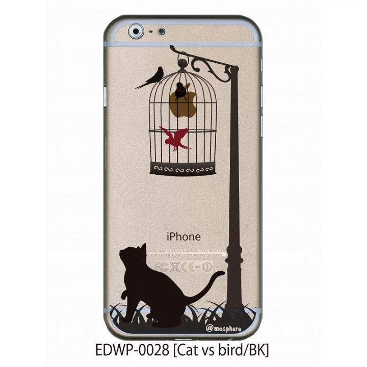 【iPhone6ケース】アトモスフィア クリアデザインケース キャットバーサスバード ブラック iPhone 6ケース_0