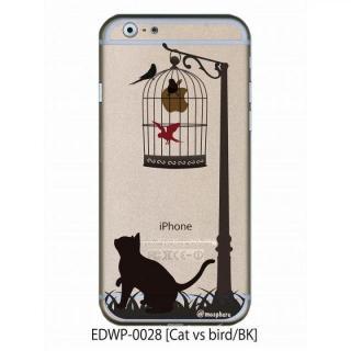 アトモスフィア クリアデザインケース キャットバーサスバード ブラック iPhone 6ケース