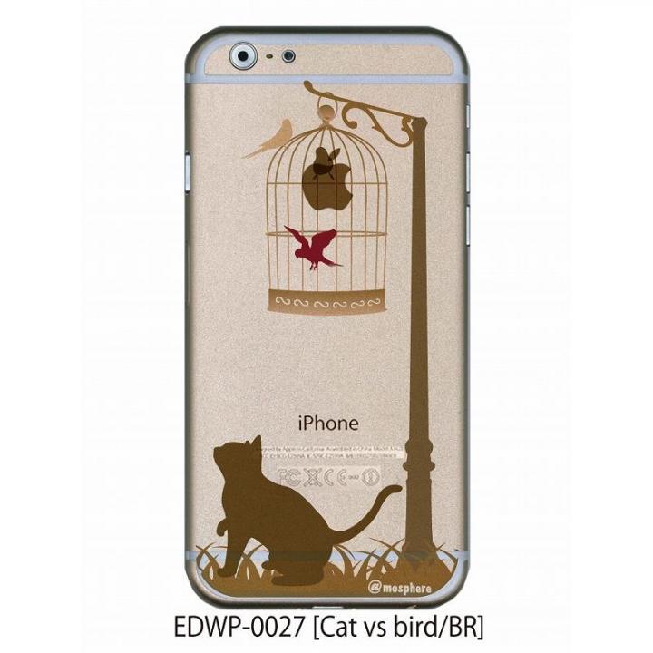 アトモスフィア クリアデザインケース キャットバーサスバード ブラウン iPhone 6ケース