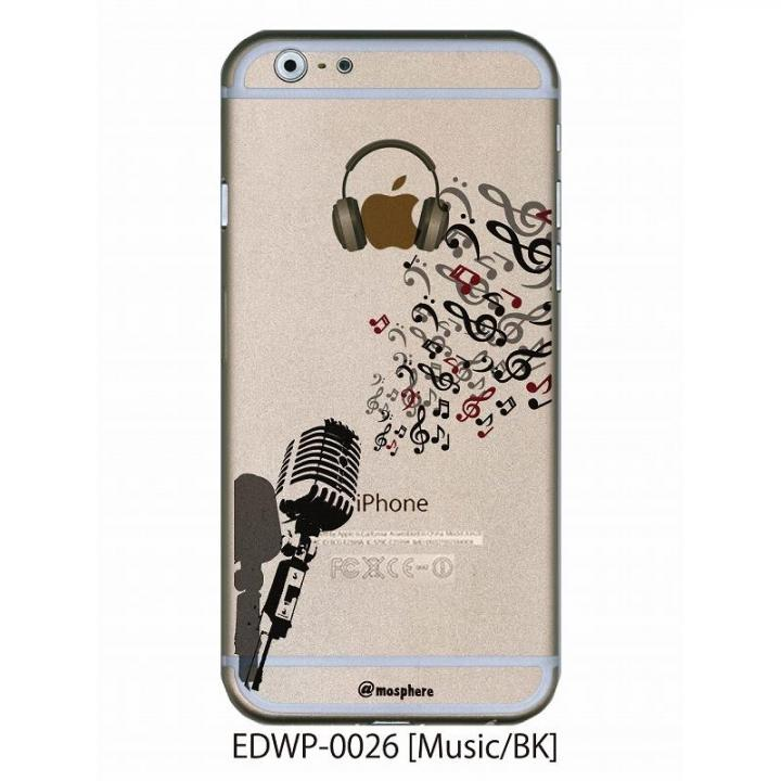 アトモスフィア クリアデザインケース ミュージック ブラック iPhone 6ケース