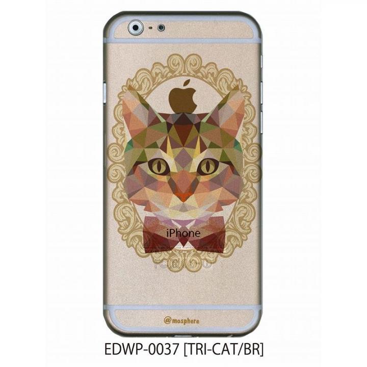 アトモスフィア クリアデザインケース トライキャット ブラウン iPhone 6ケース