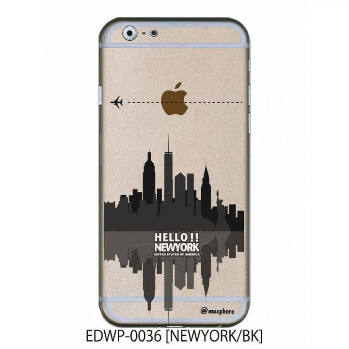 【iPhone6ケース】アトモスフィア クリアデザインケース ニューヨーク ブラック iPhone 6ケース_0