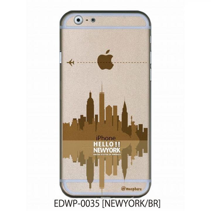 iPhone6 ケース アトモスフィア クリアデザインケース ニューヨーク ブラウン iPhone 6ケース_0