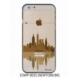 アトモスフィア クリアデザインケース ニューヨーク ブラウン iPhone 6ケース
