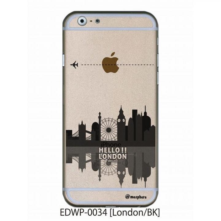 iPhone6 ケース アトモスフィア クリアデザインケース ロンドン ブラック iPhone 6ケース_0