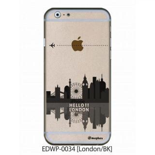 アトモスフィア クリアデザインケース ロンドン ブラック iPhone 6ケース