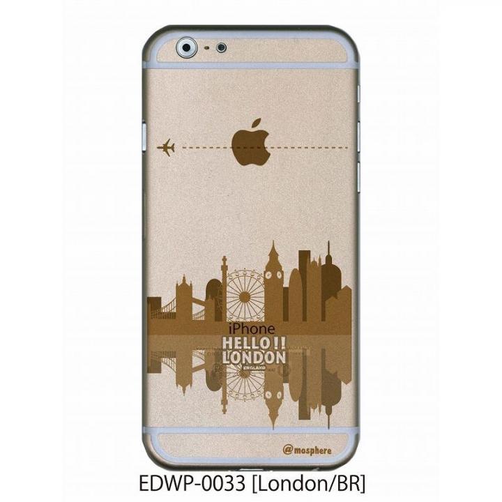 アトモスフィア クリアデザインケース ロンドン ブラウン iPhone 6ケース